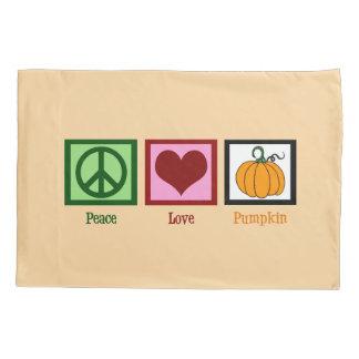 Peace Love Pumpkin Pillow Case