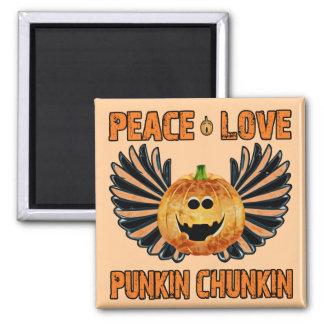 Peace Love Punkin Chunkin Magnet