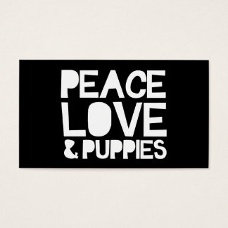 Peace Love & Puppies Business Card