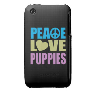 Peace Love Puppies iPhone 3 Cover