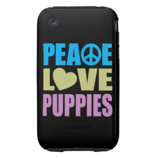 Peace Love Puppies iPhone 3 Tough Cover