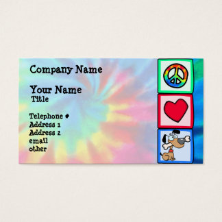 Peace, Love, Puppy Dogs Business Card