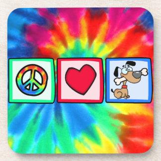Peace, Love, Puppy Dogs Coaster