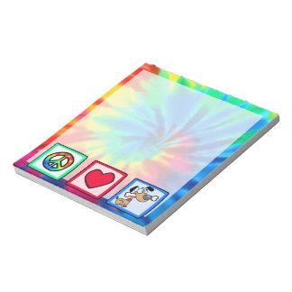 Peace, Love, Puppy Dogs Notepad