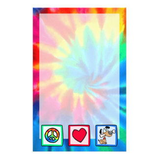 Peace, Love, Puppy Dogs Stationery