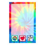 Peace, Love, Puppy Dogs Stationery Design