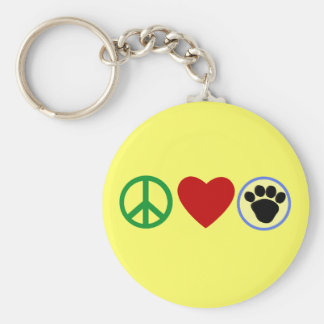 Peace Love Puppy Paws T shirts, Gifts Keychain