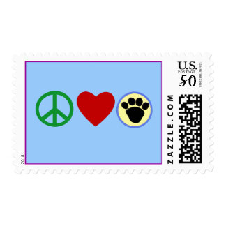 Peace Love Puppy Paws T shirts, Gifts Postage