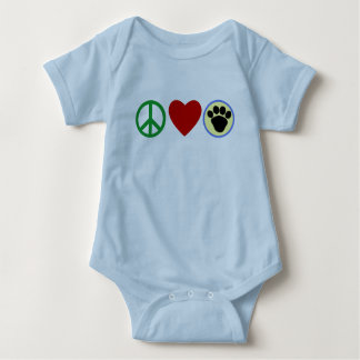 Peace Love Puppy Paws T shirts, Gifts Tshirts