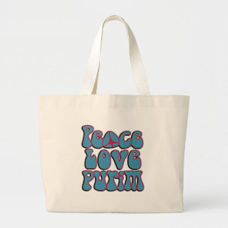 Peace Love Purim.png Canvas Bag