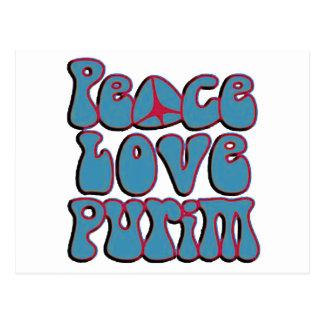Peace Love Purim.png Postcard