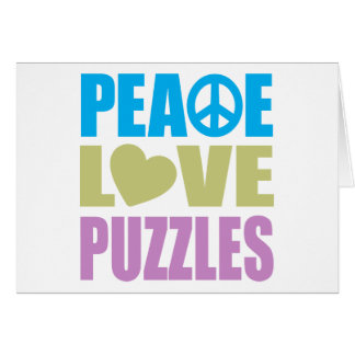 Peace Love Puzzles Greeting Card