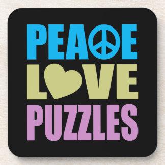 Peace Love Puzzles Coaster