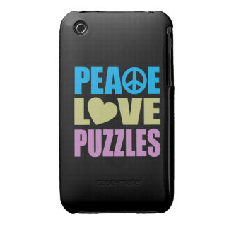 Peace Love Puzzles iPhone 3 Case