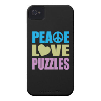 Peace Love Puzzles iPhone 4 Cover