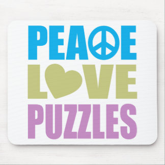 Peace Love Puzzles Mouse Pad