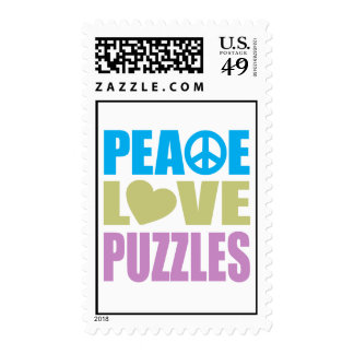 Peace Love Puzzles Postage
