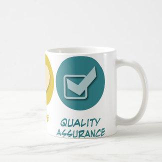 Peace Love Quality Assurance Classic White Coffee Mug