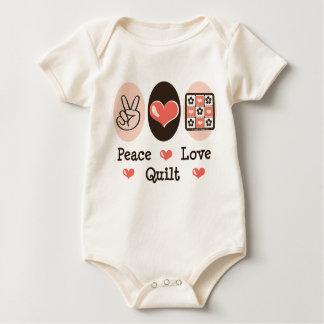 Peace Love Quilt Baby Bodysuit