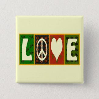 Peace Love Quilt Button