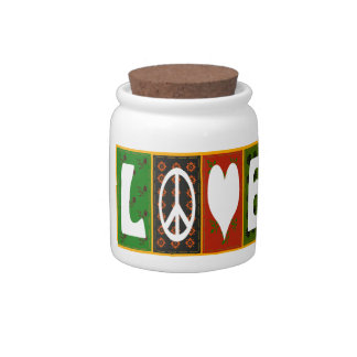 Peace ~ Love Quilt Design Candy Dishes