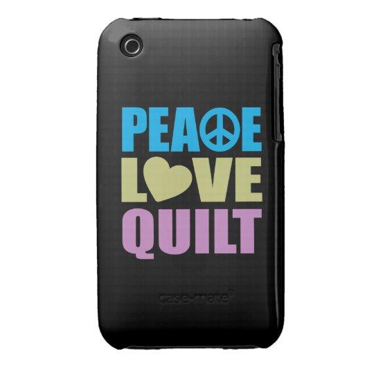 Peace Love Quilt iPhone 3 Case-Mate Case
