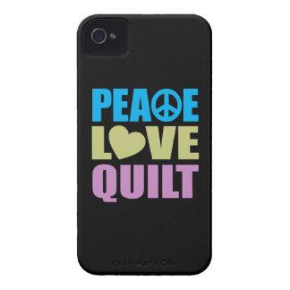 Peace Love Quilt iPhone 4 Case