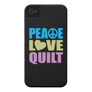Peace Love Quilt iPhone 4 Case-Mate Case