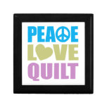 Peace Love Quilt Jewelry Box