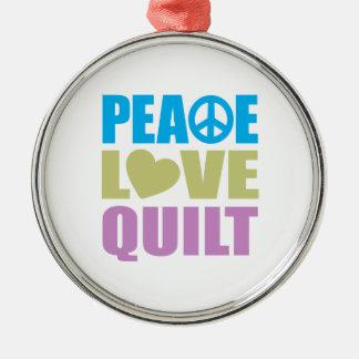 Peace Love Quilt Ornament