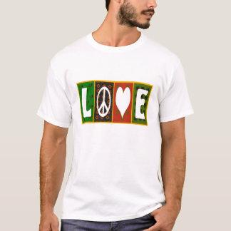 Peace Love Quilt T- Shirt