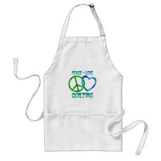 Peace Love QUILTING Adult Apron