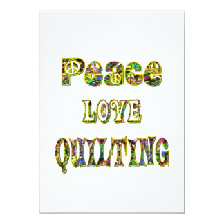 Peace Love Quilting Card
