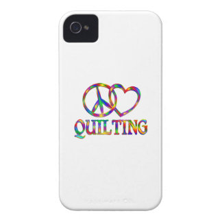 Peace Love Quilting iPhone 4 Cover
