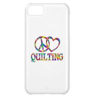 Peace Love Quilting iPhone 5C Covers