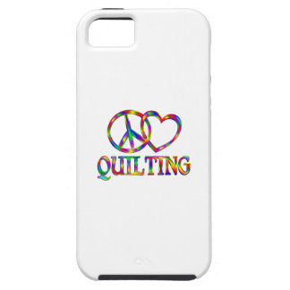 Peace Love Quilting iPhone 5 Cover