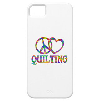 Peace Love Quilting iPhone 5 Cases