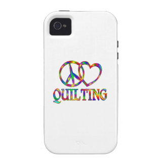 Peace Love Quilting Case-Mate iPhone 4 Covers