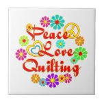 PEACE LOVE Quilting Ceramic Tile