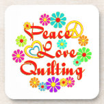 PEACE LOVE Quilting Coasters