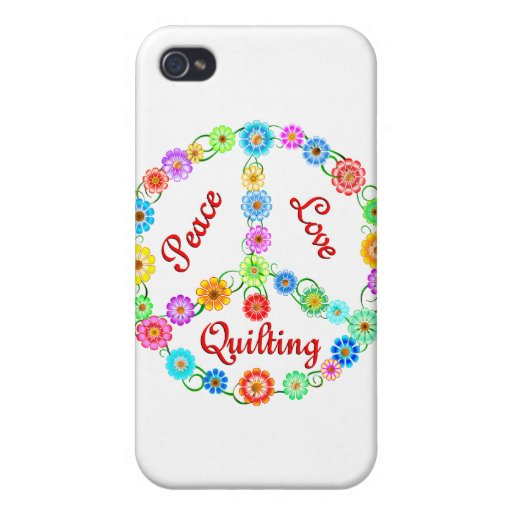 Peace Love Quilting iPhone 4/4S Case