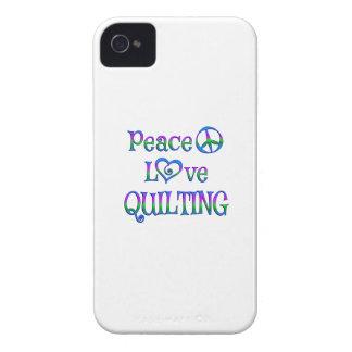 Peace Love Quilting iPhone 4 Case-Mate Case