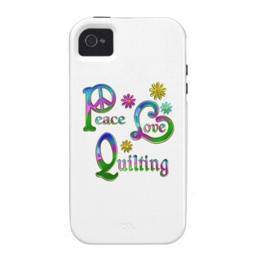 Peace Love Quilting iPhone 4 Cases