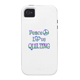 Peace Love Quilting iPhone 4 Covers