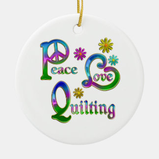 Peace Love Quilting Christmas Ornaments