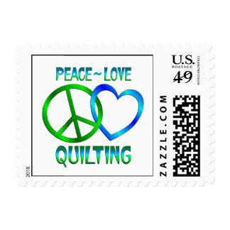 Peace Love QUILTING Postage