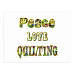Peace Love Quilting Postcard