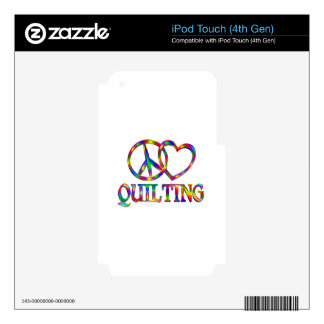 Peace Love Quilting iPod Touch 4G Decal