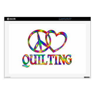 Peace Love Quilting Decals For Laptops