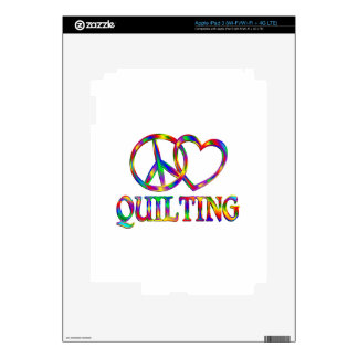 Peace Love Quilting Skin For iPad 3